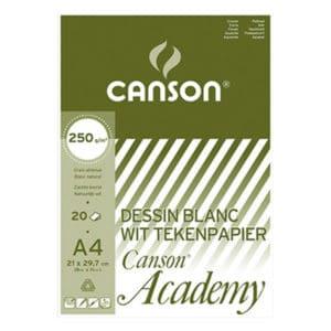 ACADEMY CANSON A4 250GR 20FLS BLANC