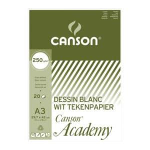 ACADEMY CANSON A3 250GR 20FLS