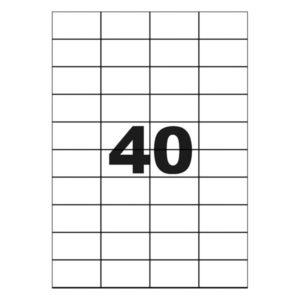 ETIQ.MULTICOM CL40E/A4 52.5/29.6MM 100FLS