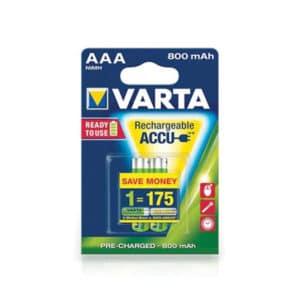 PILE VARTA RECH.AAA-HR03 800MAH /2