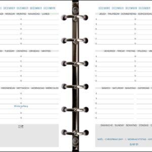 AGENDA EXATIME 14 RECHARGE 2 PAGES par semaine