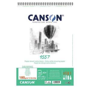 1557 BLOC CANSON  180GR A3 SPI 30FLS