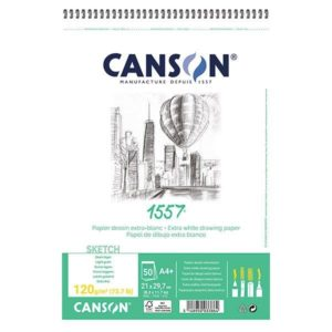 1557 BLOC CANSON 120GR SPI A4 30FLS