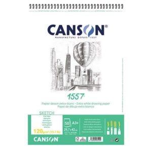 1557 BLOC CANSON 120GR SPI A3 50FLS