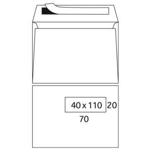 Enveloppes Turbomail blanc digitale 90g/m² 162 x 229 mm fenêtre à droite stripcol tarôt nid d'abeill